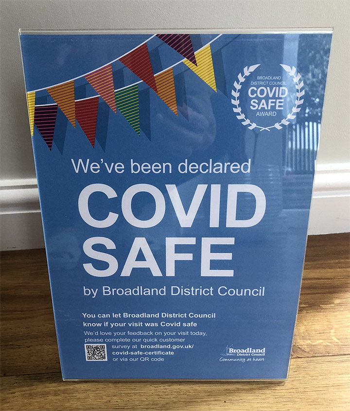 Covid Safe certificate 1 small